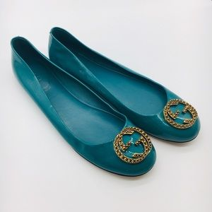Authentic Gucci flats patent leather GG 39.5 Italy